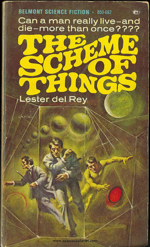 awesome classic sci-fi book cover Lester dek Rey The scheme of things