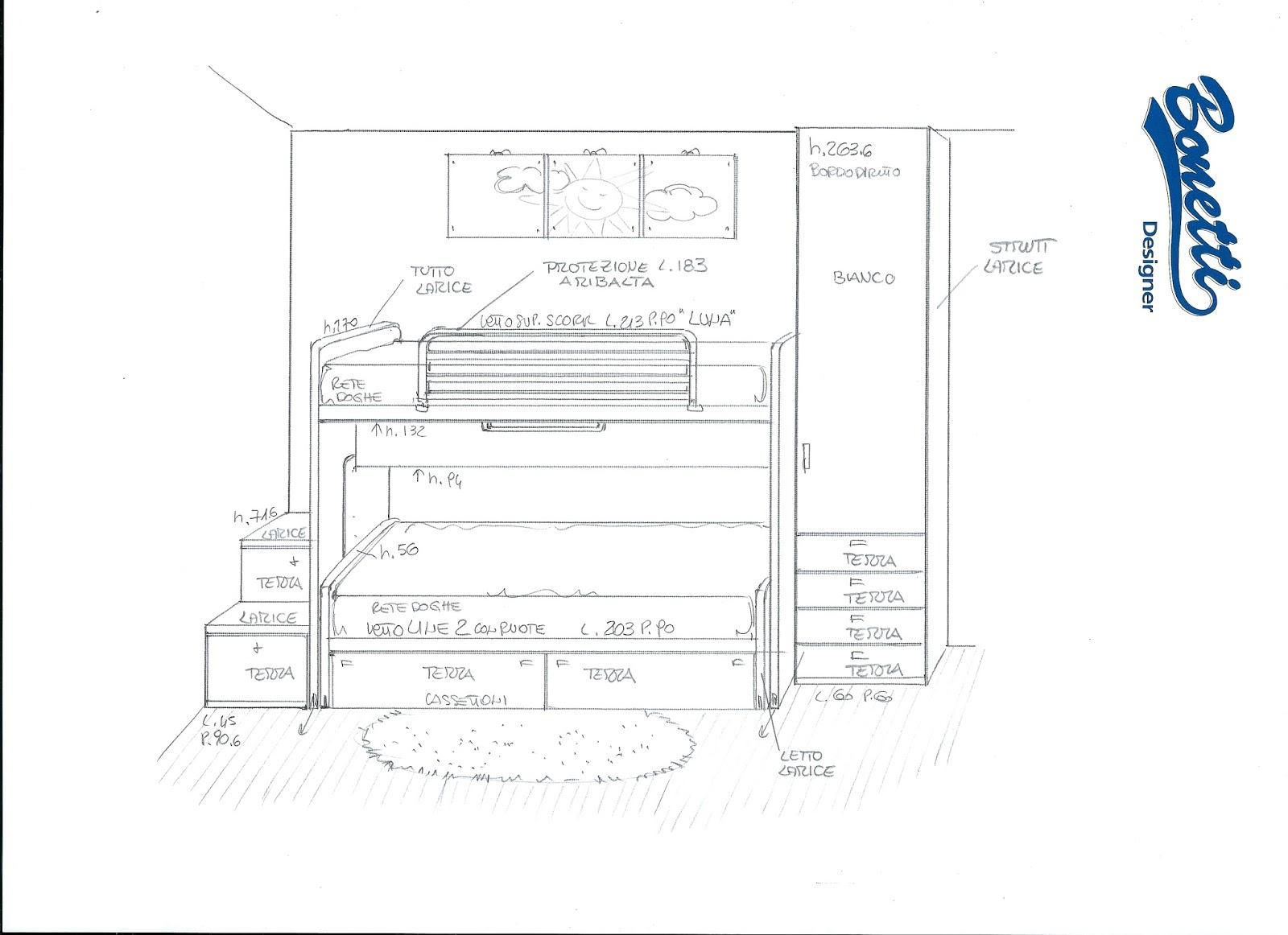 Bonetti camerette bonetti bedrooms progetti camerette piccole - Camerette a ponte piccole dimensioni ...