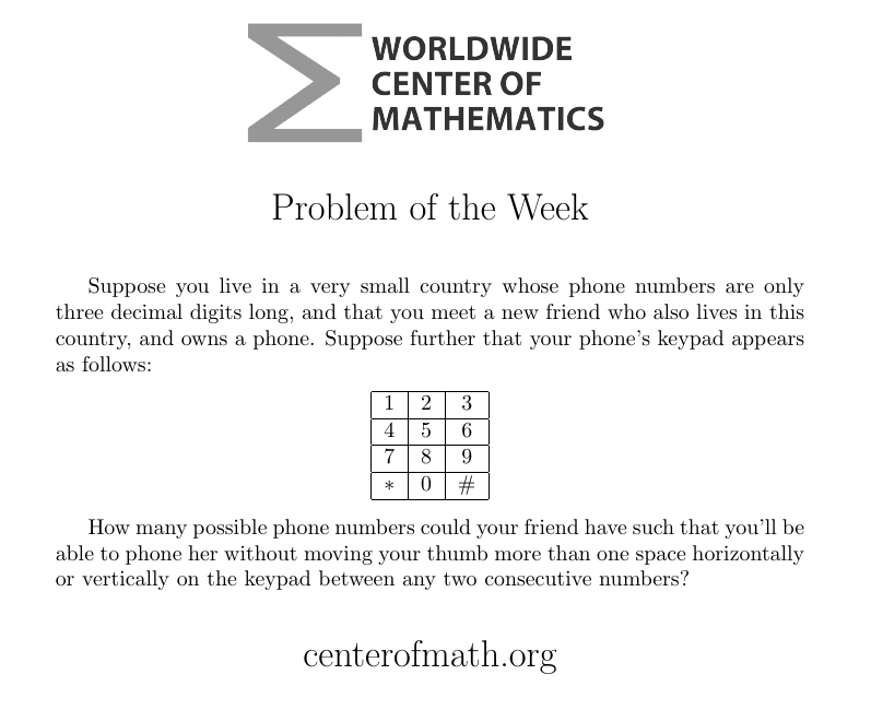 Challenge of the Week - 6th Grade Math