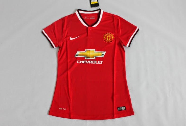 Baju Jersey Manchester United Chevrolet Wanita atau Perempuan Terbaru 2014-2015