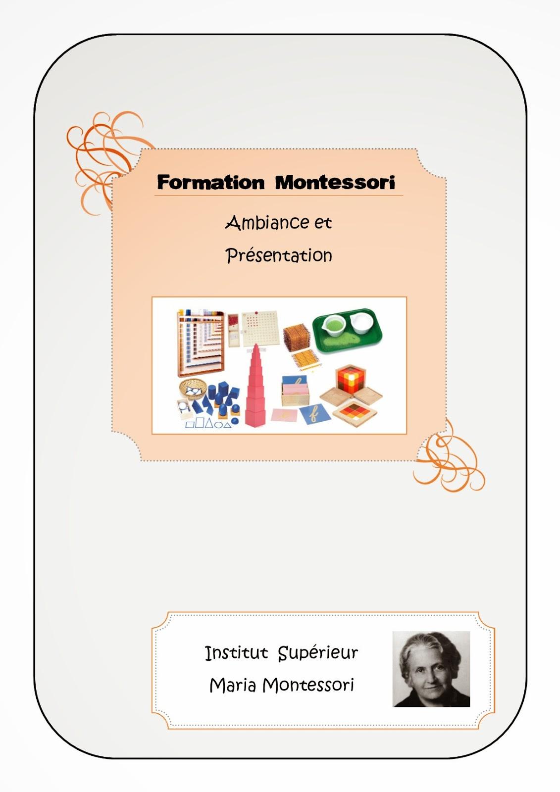 Compte-rendu formation Montessori