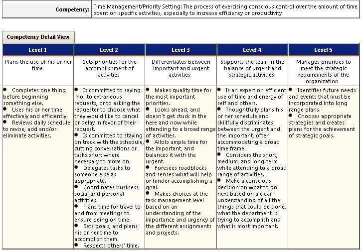 technical proficiency examples