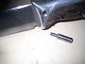 Per fare le sedi delle rondelline,ho costruito una fresetta utilizzando il codolo di una punta da t