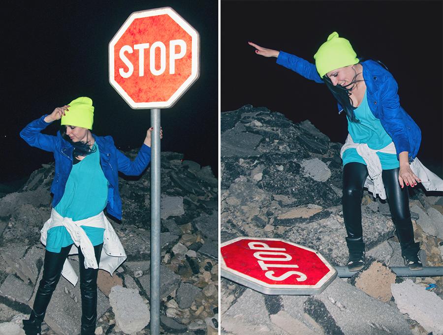 For Peet's Sake blog girl stop sign