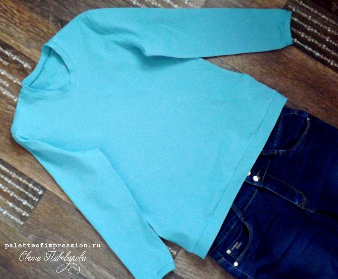 Джемпер весенний. Burda 10/2014 модель 114. Кулирная гладь. Блог Вся палитра впечатлений. Spring jumper. Blog Palette of impression