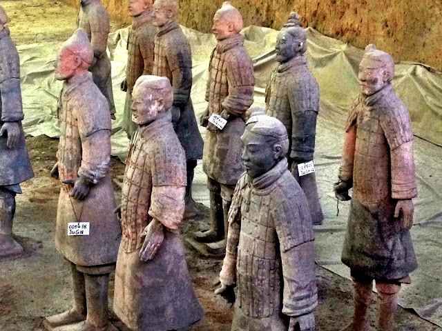 Close ups of some of the terracotta warriors - Xi'an, China