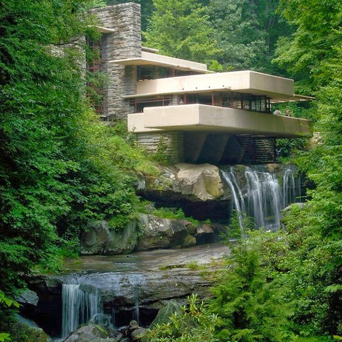 Filigranne fallingwater franck lloyd wright - La maison sur la cascade frank lloyd wright ...