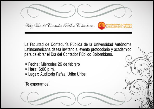 celebración del día del contador público colombiano