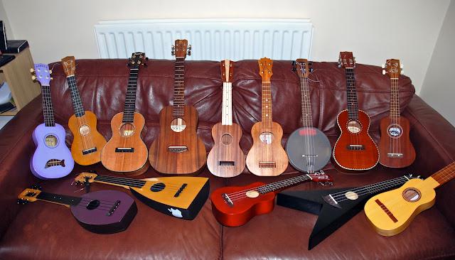 got a ukulele collection
