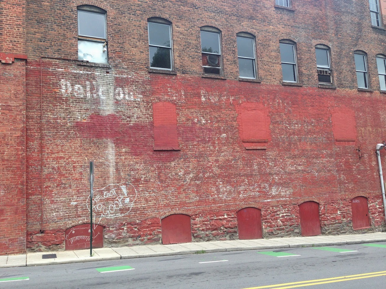 Ghost sign, Asheville, North Carolina, USA