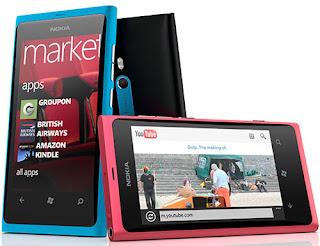 Nokia Lumia 800 merupakan ponsel keluaran Nokia dengan berbasis sistem operasi windows phone 7. 5 (Mango) yang memiliki layar sentuh AMOLED berukuran 3.7 inci dengan teknologi ClearBlack