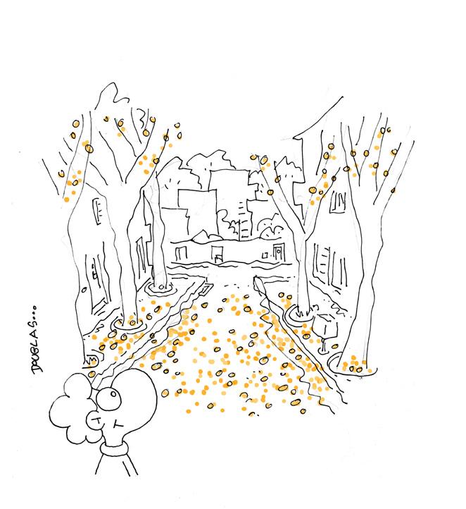 salpicada de dorado el otoño está de vuelta el otoño ha llegado