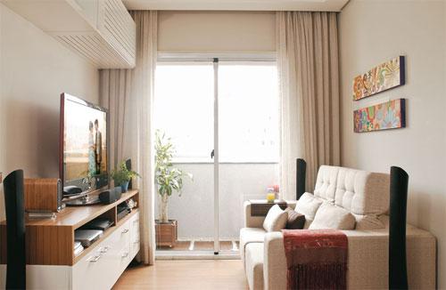 decoracao de uma sala pequena : decoracao de uma sala pequena:Existem inúmeras possibilidades de rack quanto ao comprimento