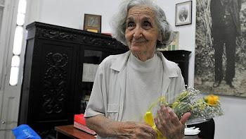 La poeta Fina García Marruz, hoy en La Habana