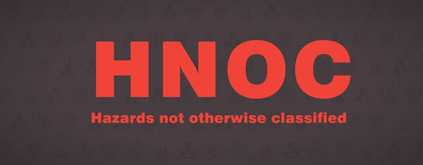 Haz-Com Hazards Not Otherwise Classified (HNOC) Image