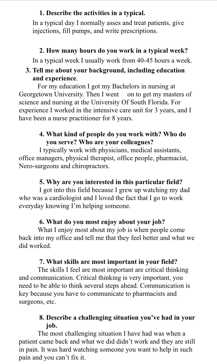 essay questions for job interview For having a better comprehension of job interviewing it is proper will to go through the definitions of interview and job interview an interview as defined is a conversation between two people (the interviewer and the interviewees) where the interviewer put questions to the interviewees to get information from him.