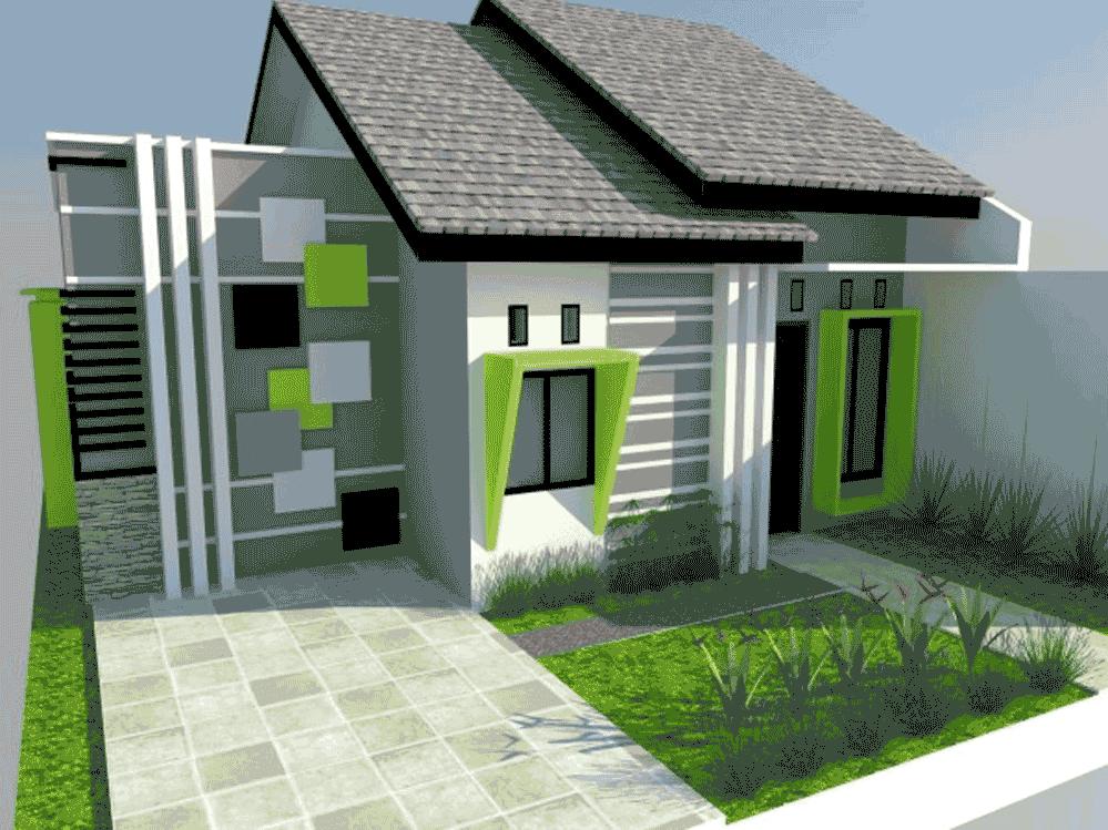 rumah minimalis warna hijau