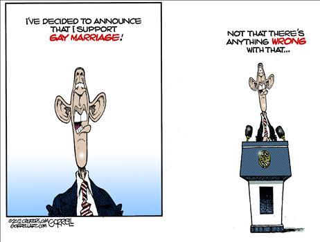 gays for obama cartoon