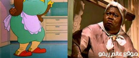شخصية السيدة مامي Mammy-Two-Shoes   الكرتون توم وجيري. Hattie McDaniel