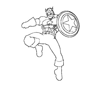 #2 Captain America Coloring Page