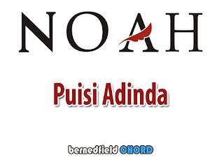 Lirik dan Chord(Kunci Gitar) Noah ~ Puisi Adinda