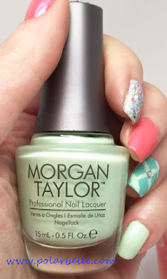 nail art, swatches, review, mint, shimmer, manicure