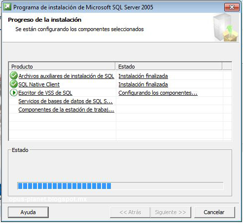 Instalación de Microsoft SQL Server 2005