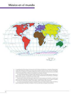 Apoyo Primaria Atlas de México 4to grado Bloque I lección 1 México en el mundo