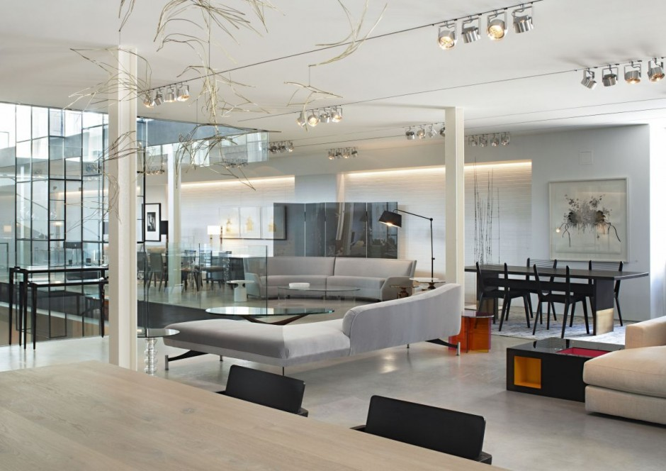 Furniture for Modern showroom exterior design