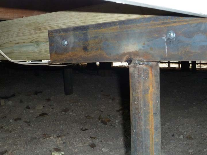 Boon a peak under the skirt of my house you perverts for Steel piers for house