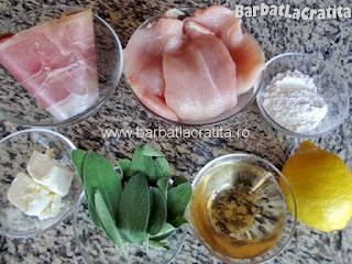 Saltimbocca friptura de vitel pui cu prosciutto si salvie - toate ingredientele de care are nevoie reteta
