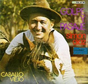 Carátula del disco Golpe y pasaje (Simón Díaz 1980)