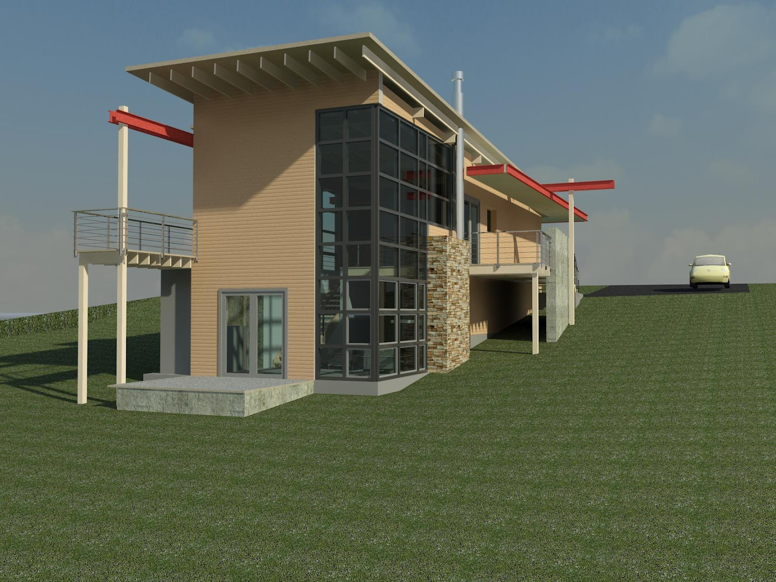 Revit down to the details rendering with lumion - Revit exterior rendering settings ...