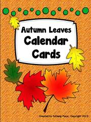 Autumn Leaves Calendar Cards