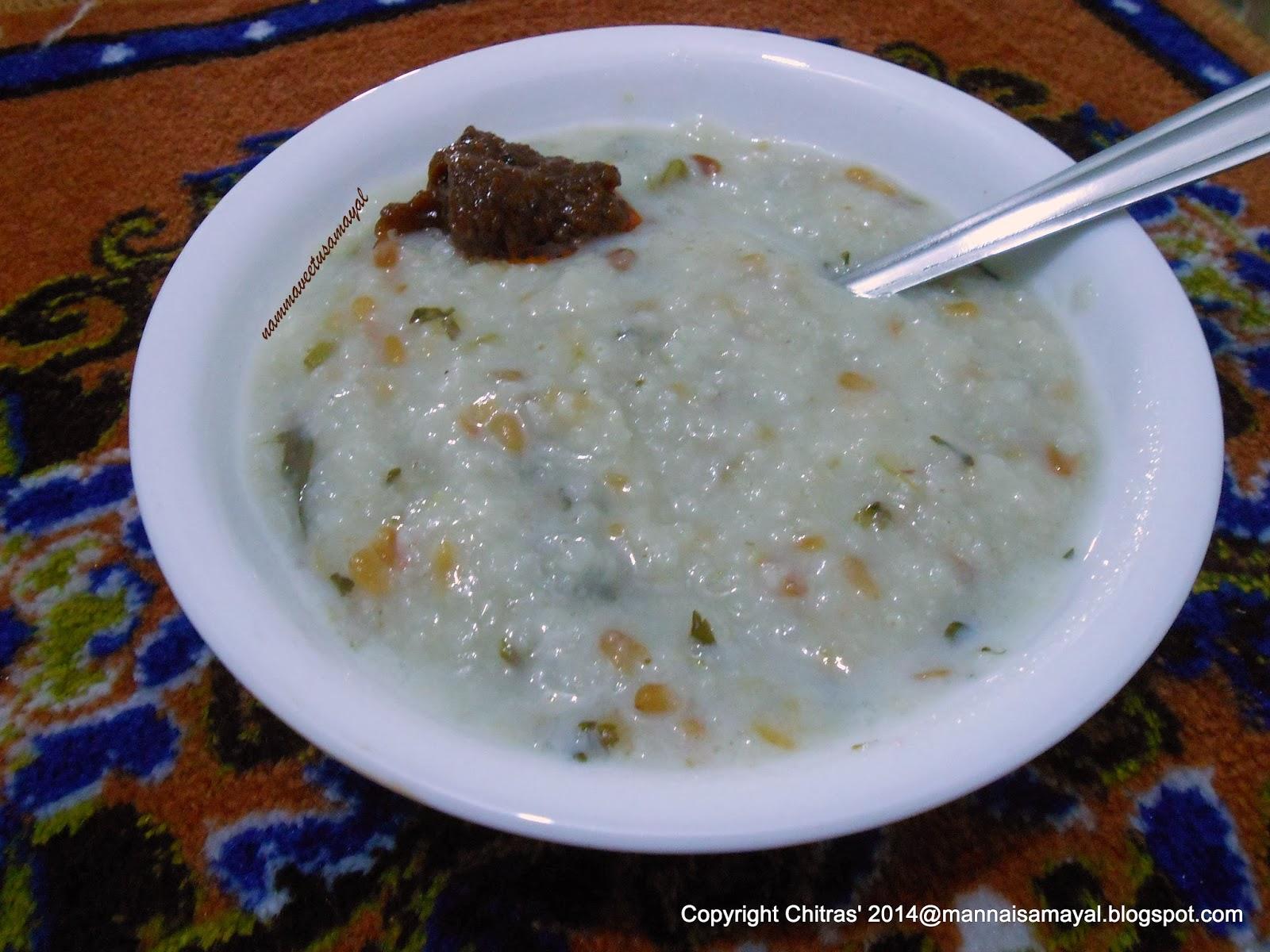 Varagarisi Venthaya Kanji [ Kodo millet Fenugreek Porridge ]