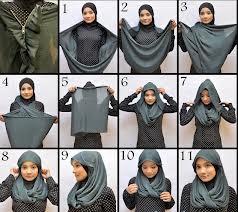 cara memakai jilbab modern, memakai jilbab modern