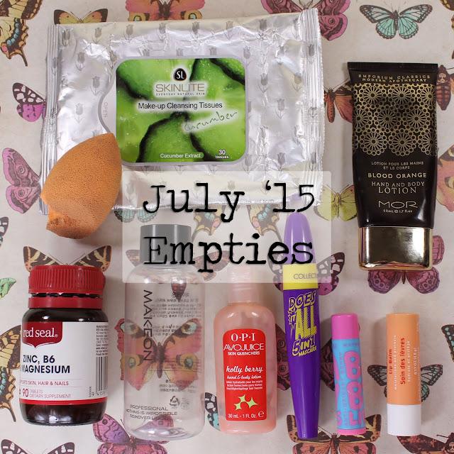 July 2015 empties