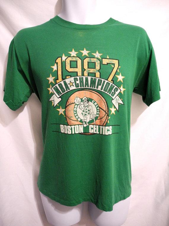 1987 Nba Champs T Shirt Boston Celtics