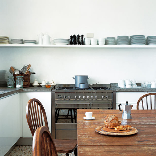 Kitchen Shelf Inspiration: From Purdue To Provence: Kitchen Inspiration: Rustic, Yet