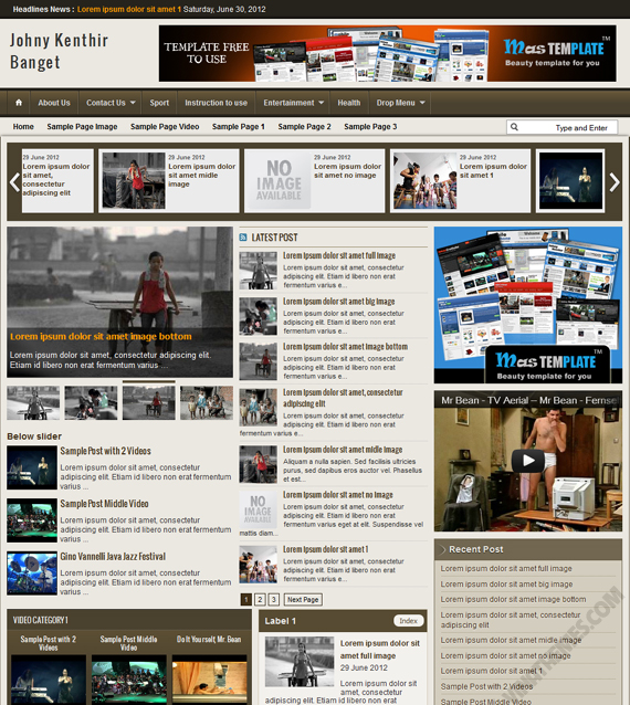 Johny Kenthir Banget Blogger Template