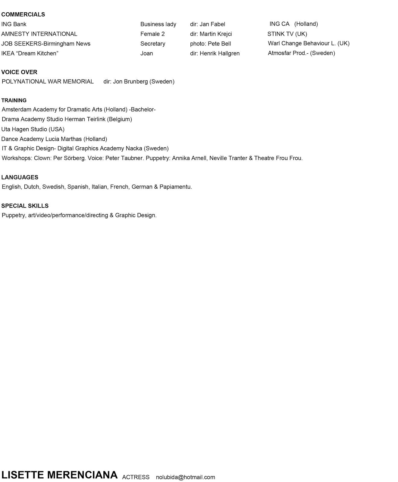 Sweden Resume Cv Format