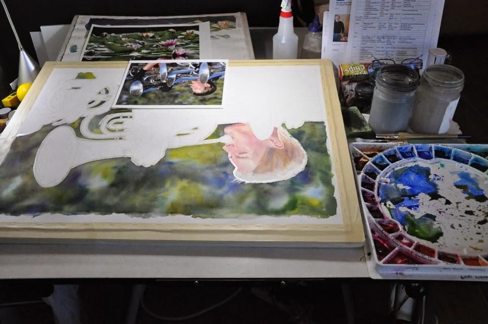 Lorraine Watry Watercolor of Baritones