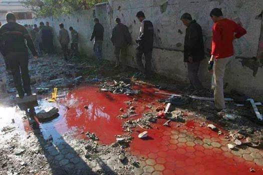 blood in gaza, street of gaza, khoon ke holi