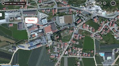 Map (Google) Showing Location of the Harp Museum in Piasco
