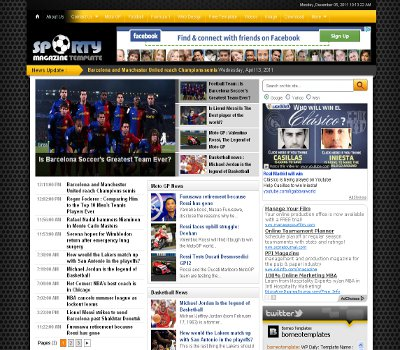 Sporty magazine 2 theme blogger templates 2013 sporty magazine 2 theme pronofoot35fo Images