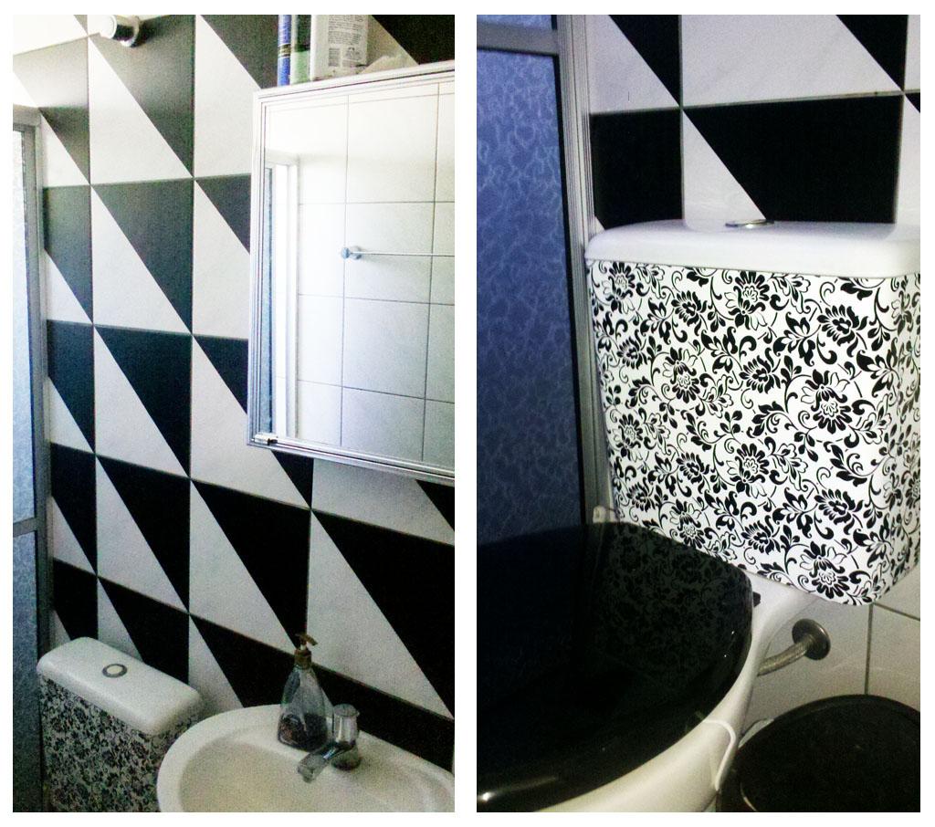 decoracao de banheiro todo preto:resultado foi esse. Um banheiro  #37476E 1024 906