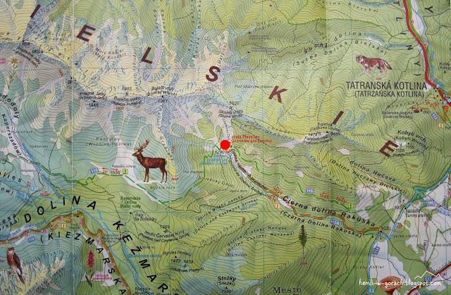 Schronisko pod Szarotką na mapie