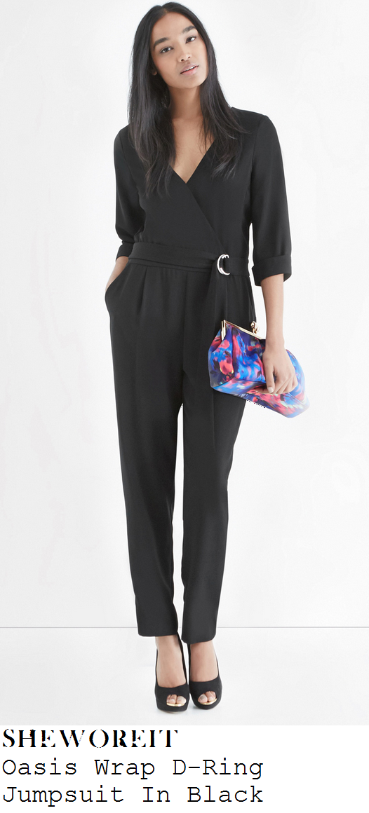 lydia-bright-black-three-quarter-sleeve-v-neck-wrap-front-d-ring-jumpsuit-towie