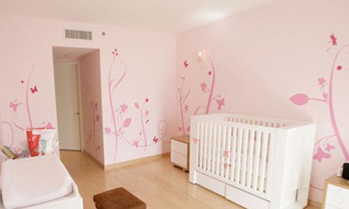 Decoraci n decoracion decorar la habitaci n de un beb - Habitacion infantil rosa ...