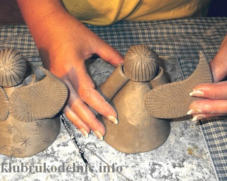 Как сделать ангела из глины